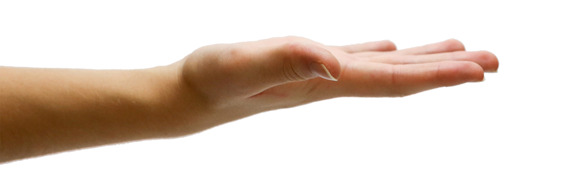 my header hand transparent